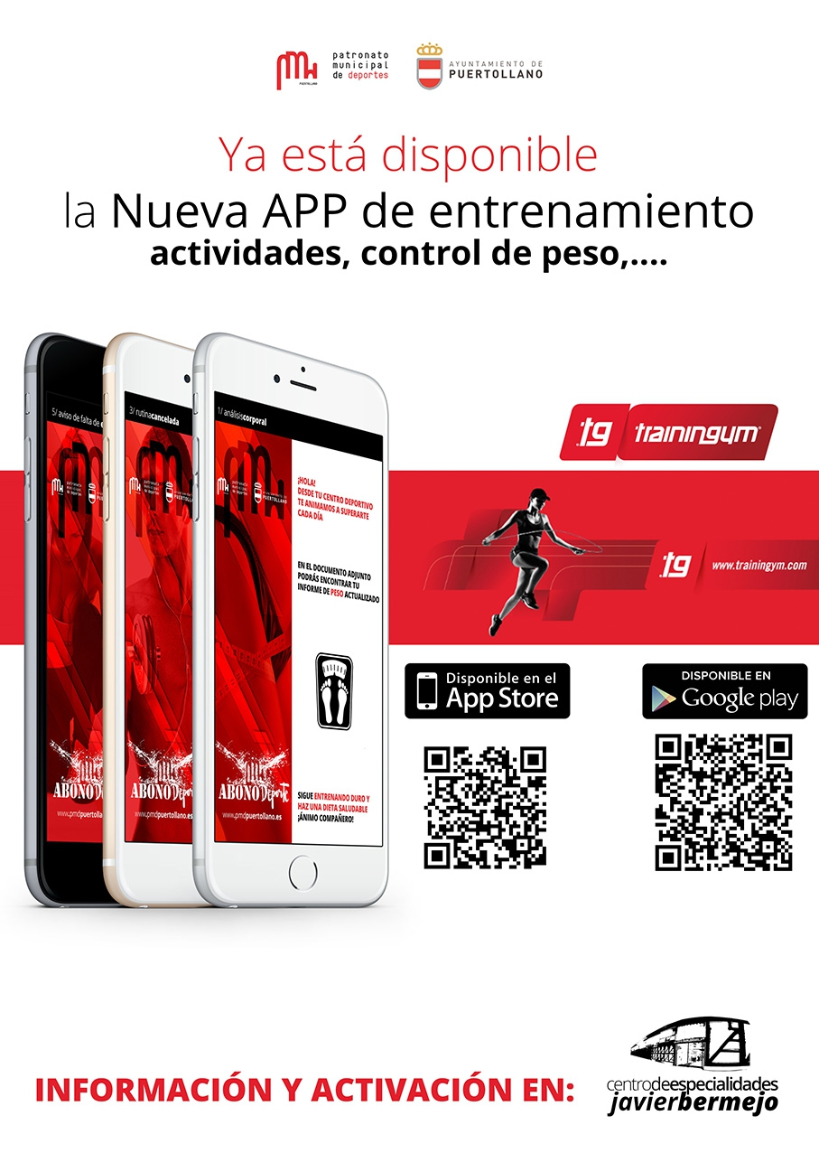 Cartel APP TrainingGym del PMD