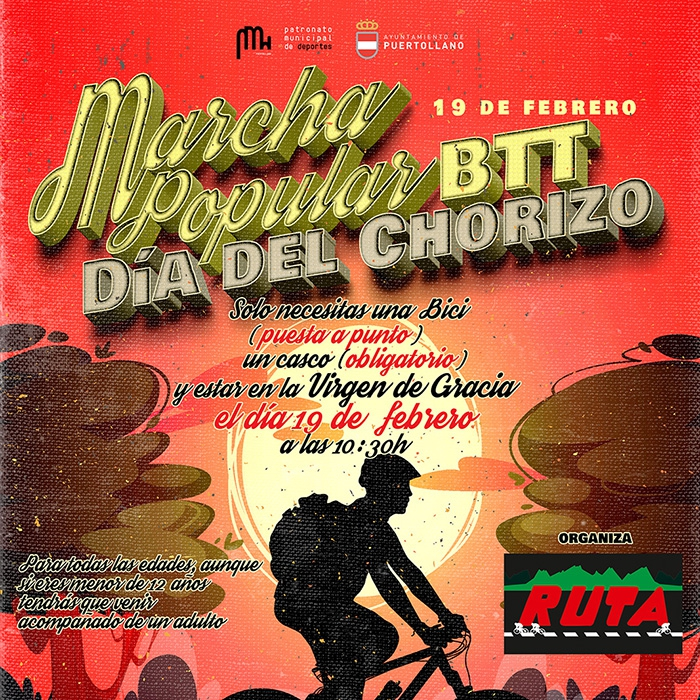 Cartel Marcha Popular BTT